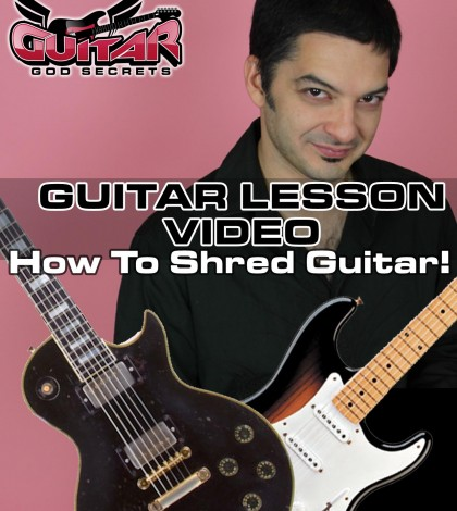 how to shred guitar